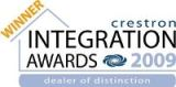 Crestron Integration Award Winner 2009