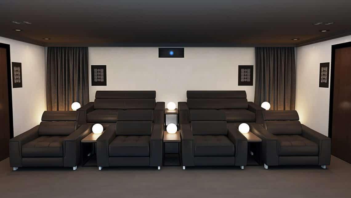 Surrey Home Cinema Room Showing Rear Speakers