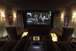 A High End Home Cinema Room installed by Custom Controls in Dubai