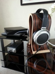 Stax Headphones on Stand