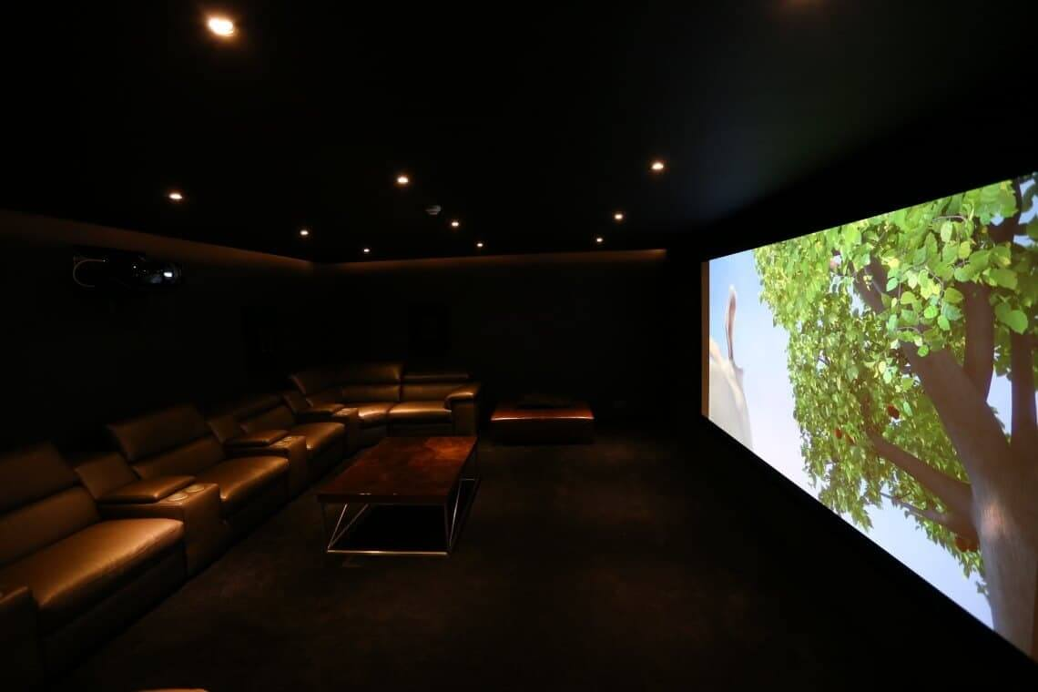 An image showing a high end dedicated cinema room