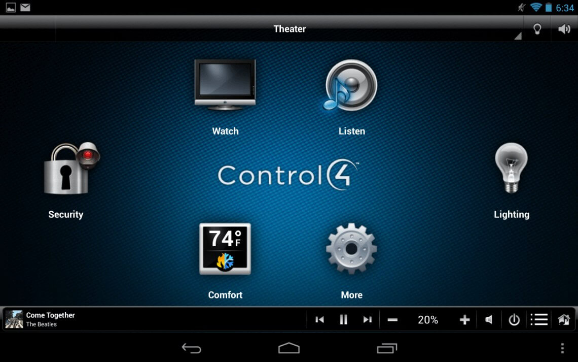 The Control4 Interface