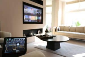 iPad Controlling Living Room AV