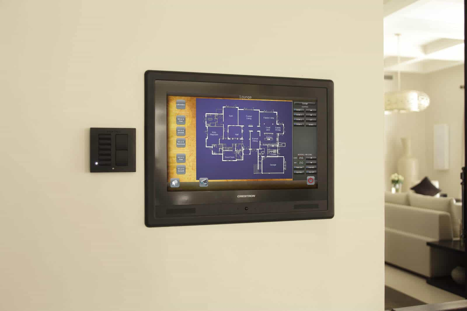 Whole House Crestron Touchpanel control