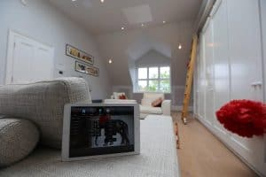 Attic Home Cinema Install NW3 Lighting