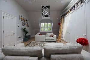 Attic Home Cinema Install NW3 showing Projector