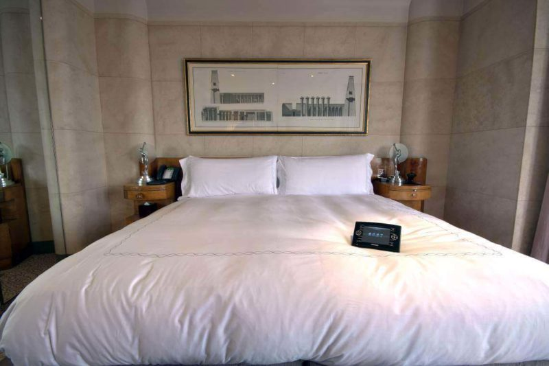 Crestron Install W1 Claridges Touchpanel on Bed 800x533 - Case Study: Claridge's Hotel Penthouses, Crestron Installation
