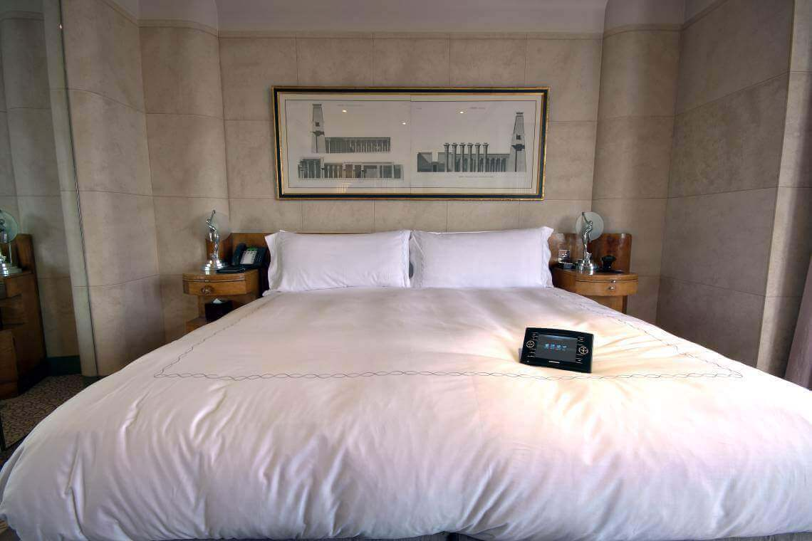 Crestron Install W1 - Claridges Touchpanel on Bed