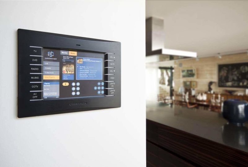 Crestron Installation Manchester Kitchen Touchpanel 800x539 - The Custom Controls Home Blog - Informal Articles & Inspiration