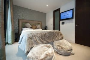 Crestron Installation NW1 Bedroom with TV
