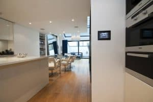 Crestron Installation NW1 Kitchen touchpanel