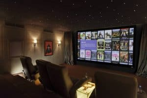 Dubai Home Cinema Showing Kaleidescape
