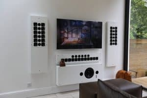 Home Cinema Installation W8 Showing Artcoustic with Covers Off