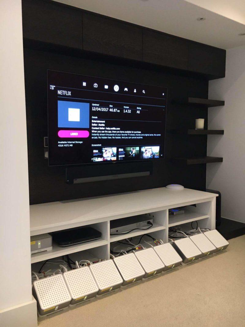 Multi Room Audio Putney Cinema 800x1067 - Case Study:- Sonos Multi-Room Audio Installation Putney, SW15