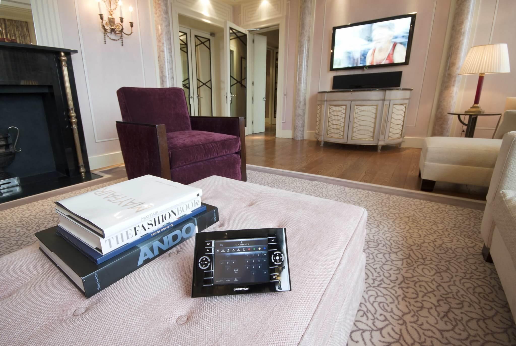Living Room AV in Claridges Hotel