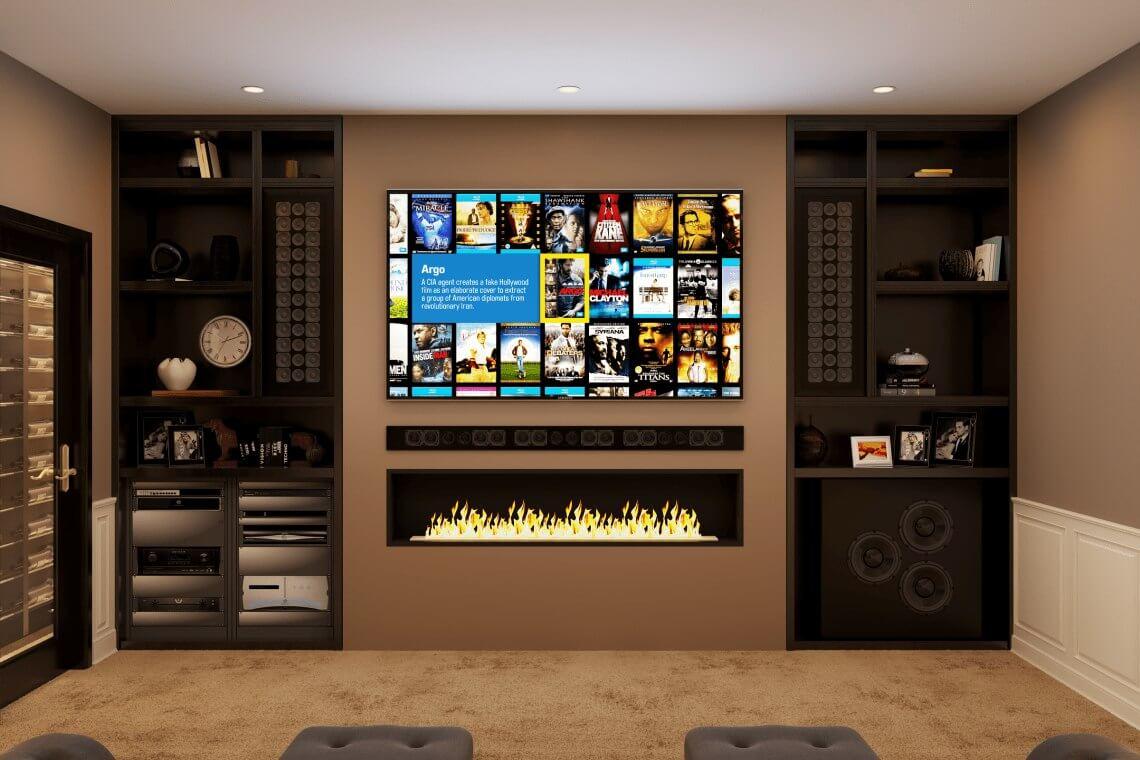 Kensington Mews Basement Home Cinema Installation