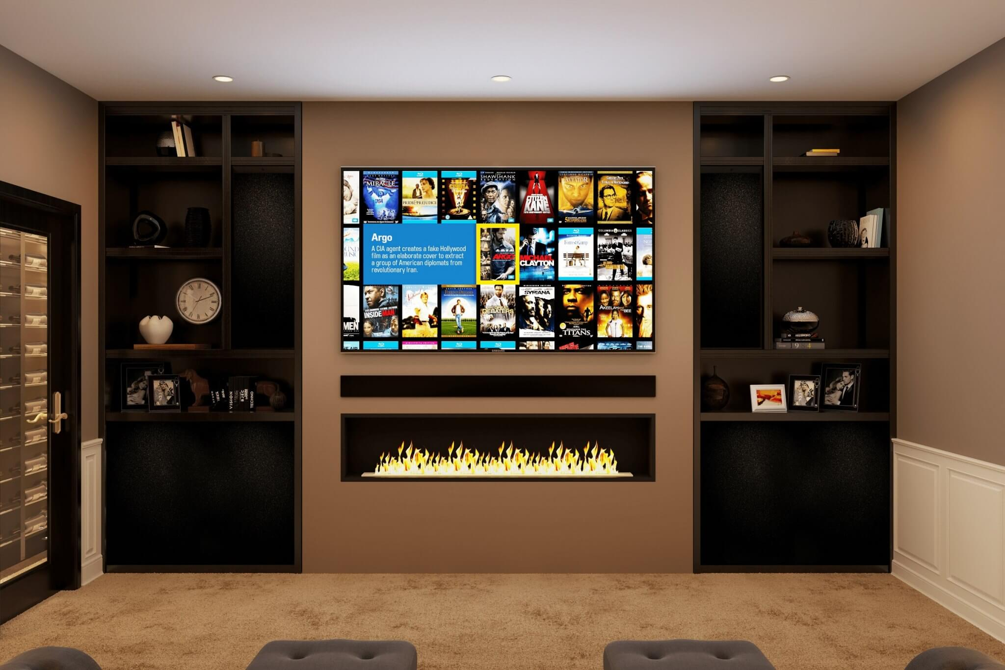 Kensington Mews Basement Home Cinema Installation