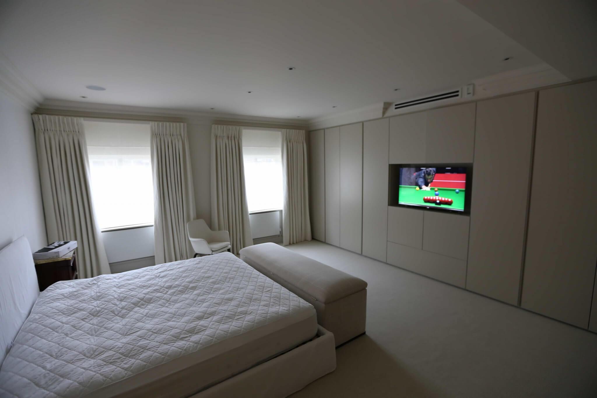 Bedroom TV in Mayfair