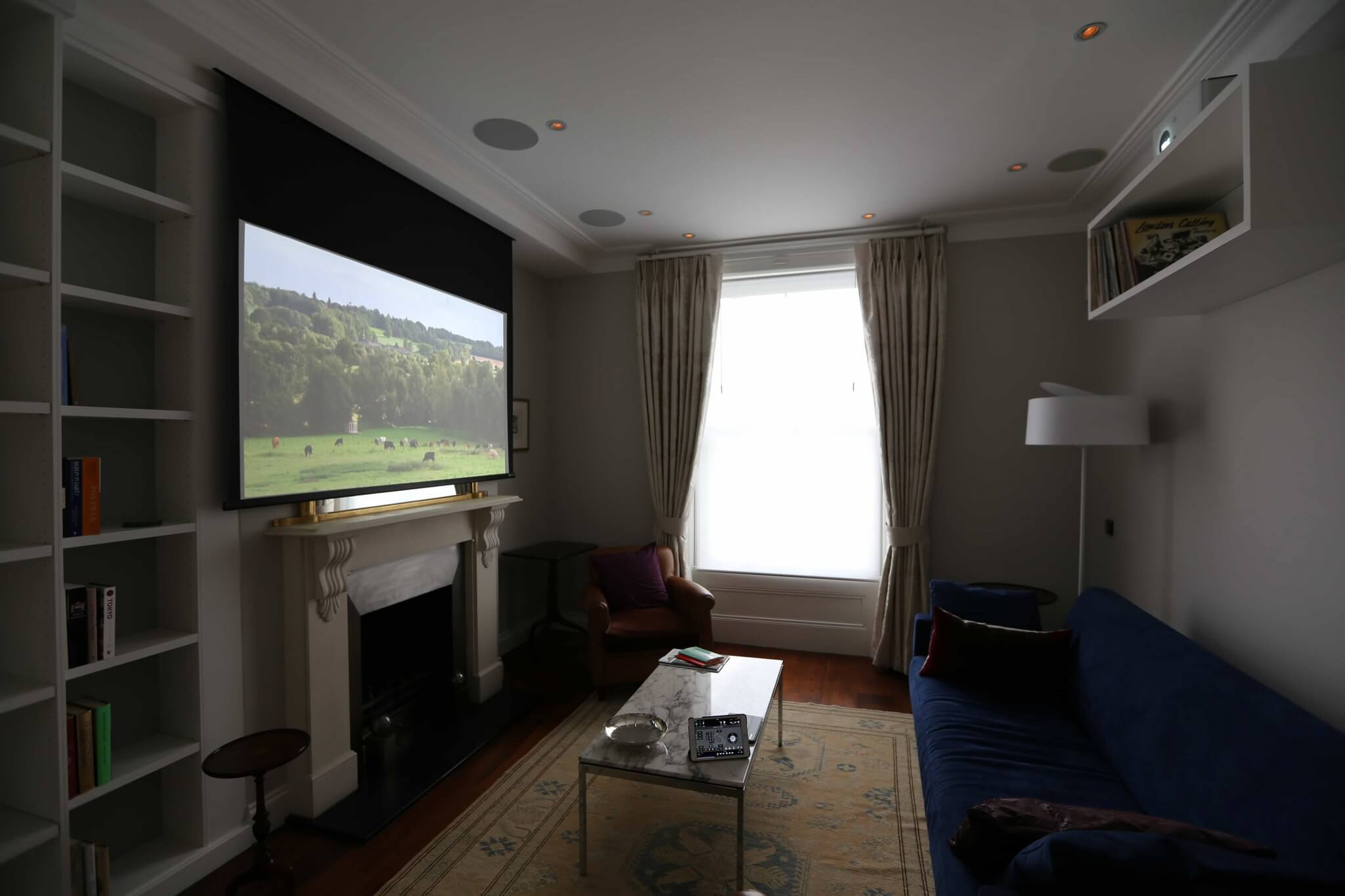 Living Room Cinema in Primrose Hill