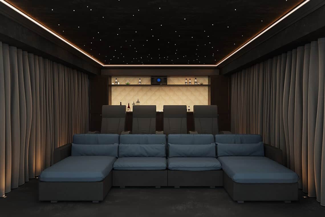 Cheshire Home Cinema Installation Rear View
