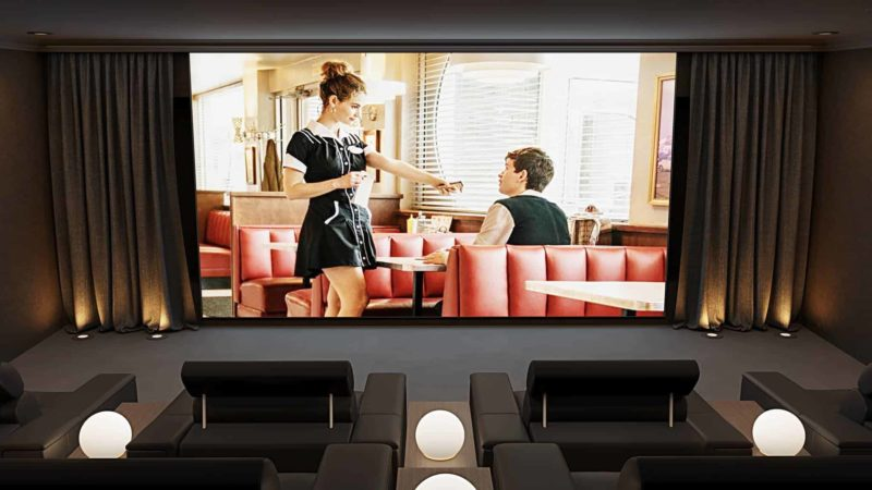 Home Cinema Room Front View 800x450 - The Custom Controls Home Blog - Informal Articles & Inspiration