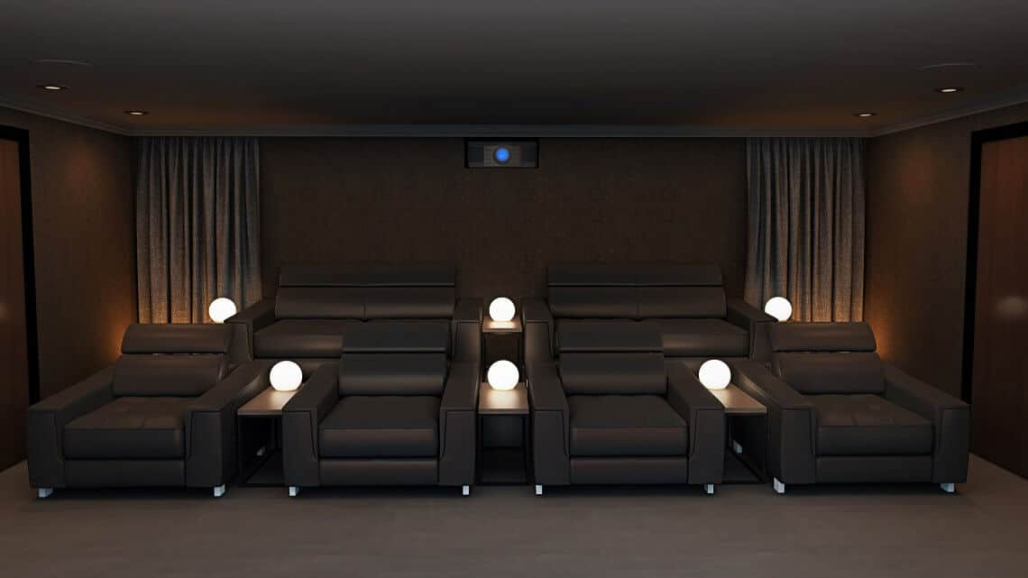 Home Cinema Room - Rear View