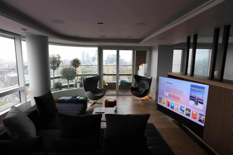 Living Room Home Cinema 800x533 - Case Study: Crestron Upgrade in an Apartment on City Road, London