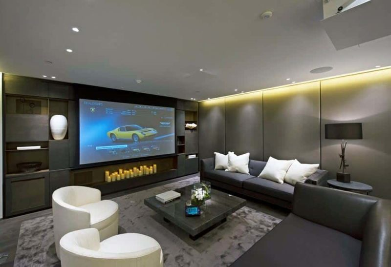 Lounge Area with Projector 800x547 - The Custom Controls Home Blog - Informal Articles & Inspiration
