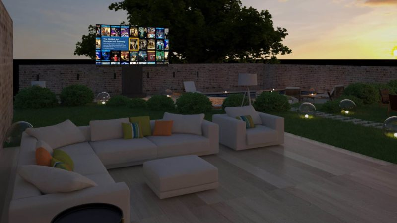 Outdoor Home Cinema Cotswolds 3 800x450 - Case Study: Outdoor Home Cinema Cotswolds
