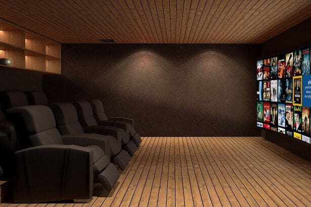Home Cinema Room Megeve - Case Study: Salle de Cinema / Home Cinema, Megeve France