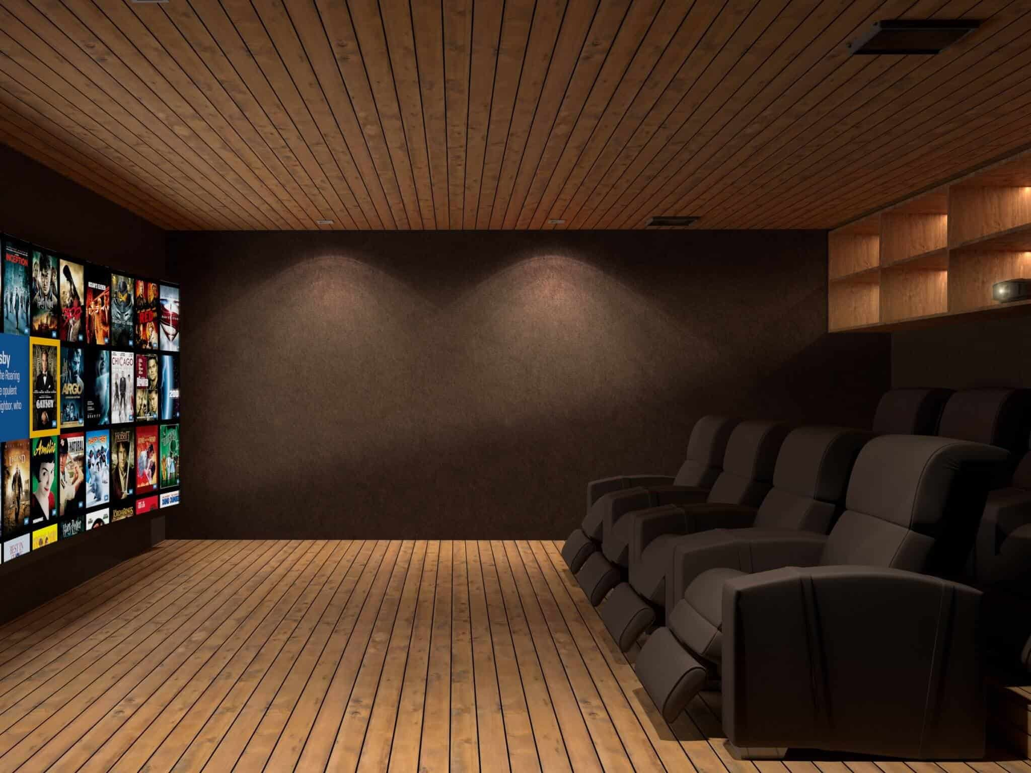 Home Cinema / Salle de Cinema, Megeve