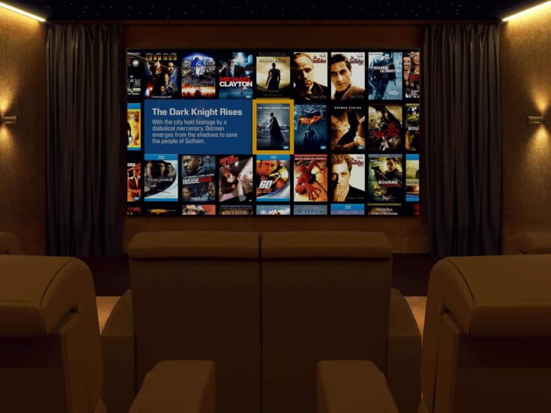 Bespoke Home Cinema Front 800x600 - The Custom Controls Home Blog - Informal Articles & Inspiration