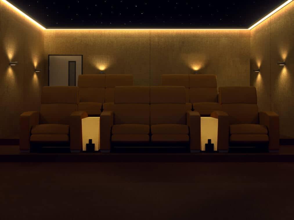 Bespoke Home Cinema Room London - Seating