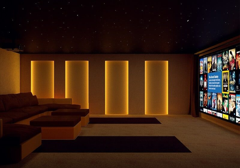 Double Garage Home Cinema 3 800x561 - The Custom Controls Home Blog - Informal Articles & Inspiration