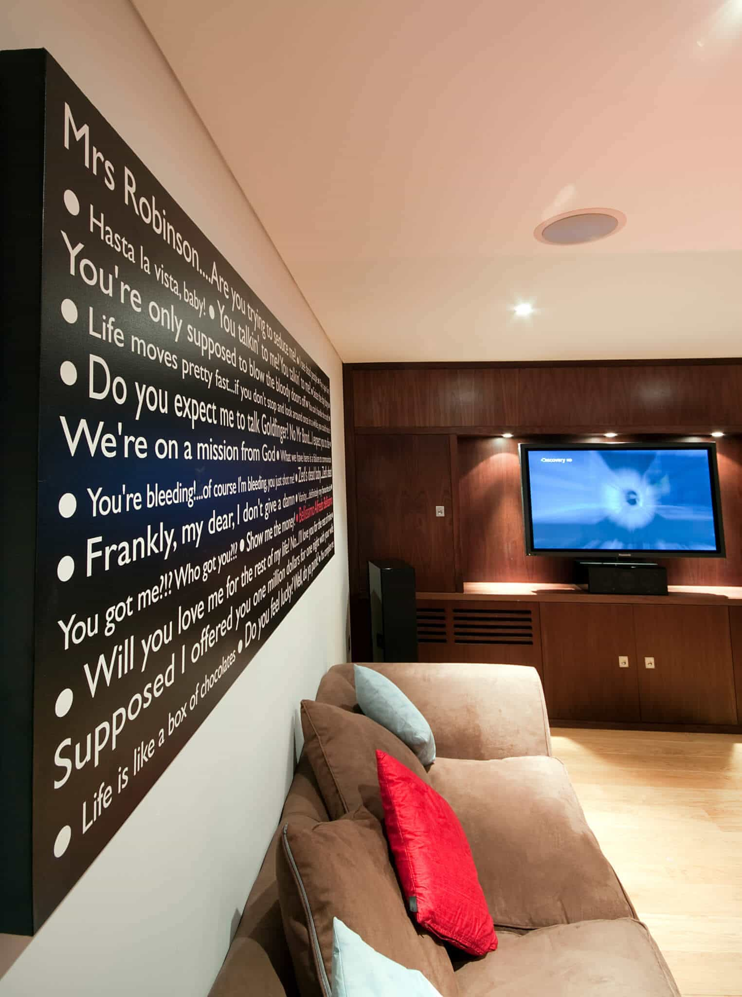 Basement Home Cinema in Baker St