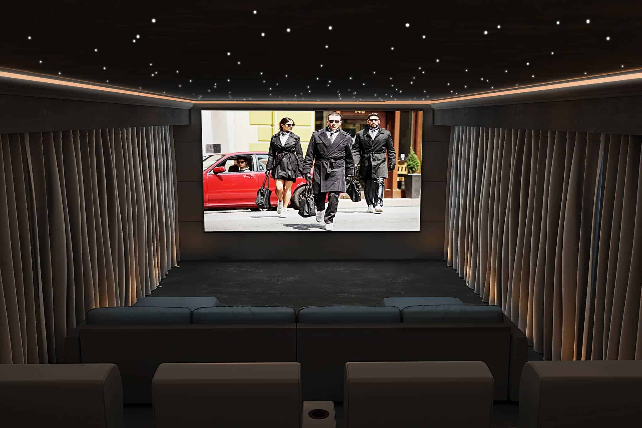 A Home Cinema installed in a Garden Room