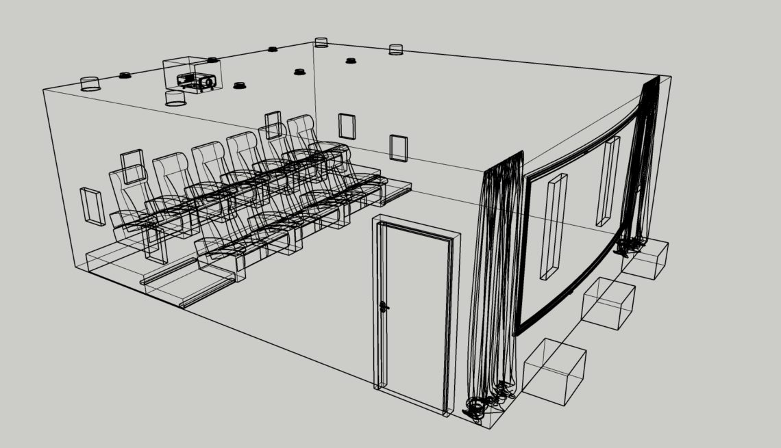 A Layout Drawing for a Home Cinema Room