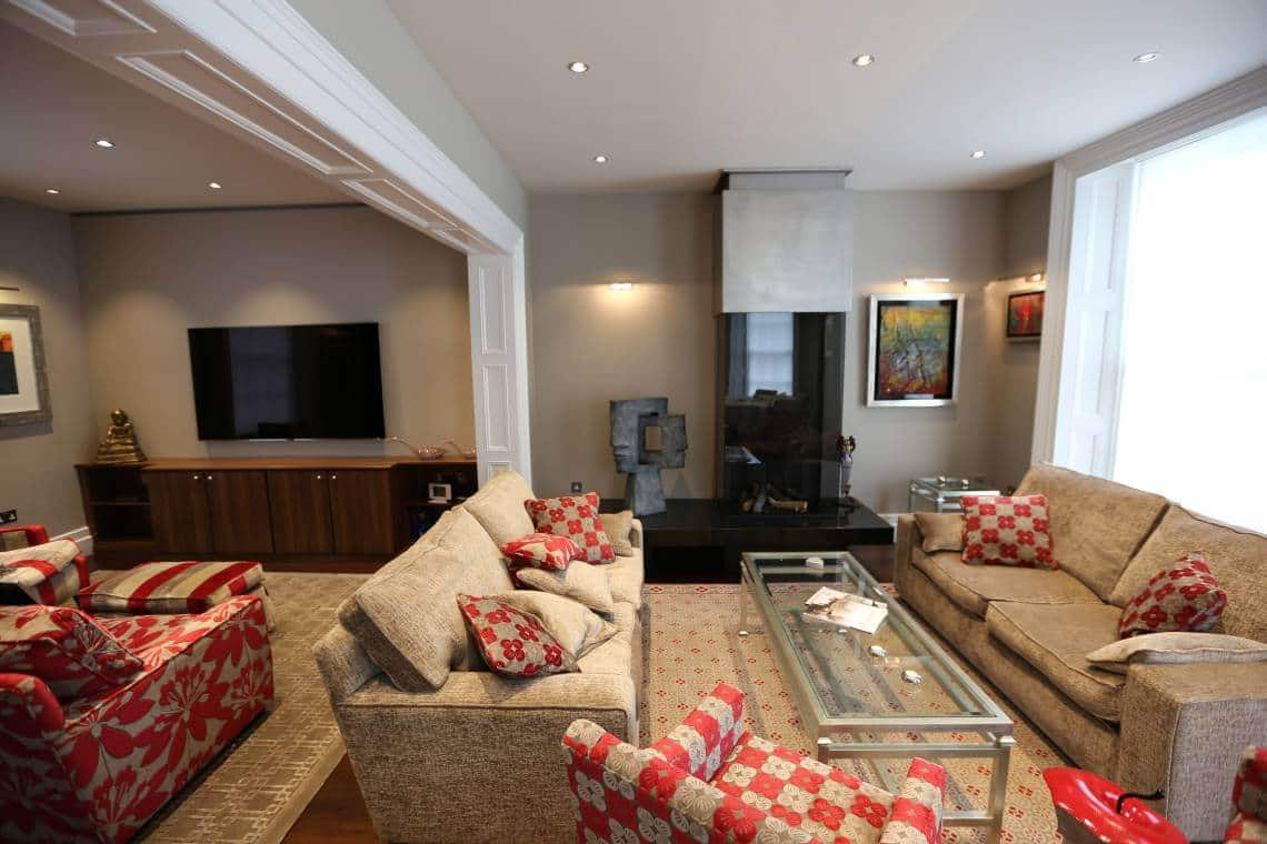 Open Plan Living Room with Crestron Control