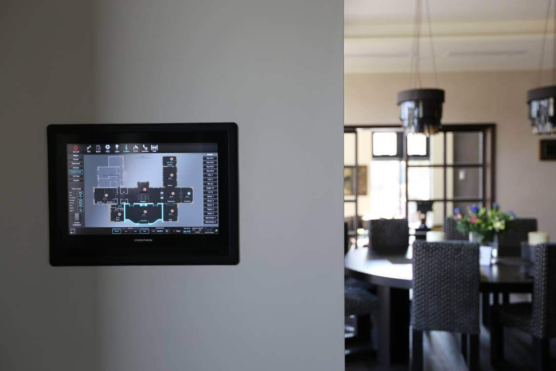Whole House Control via Crestron Touchpanel