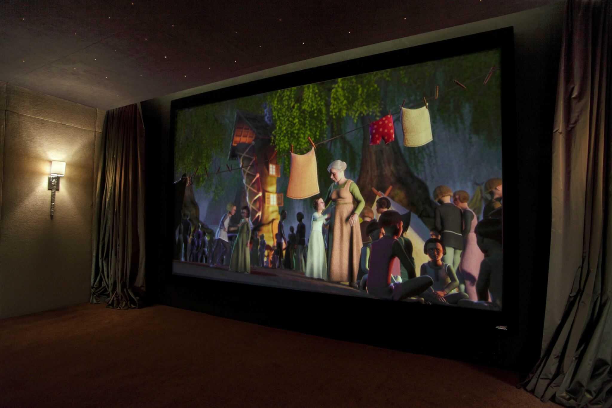 Huge Cinema Screen Installed in Dubai