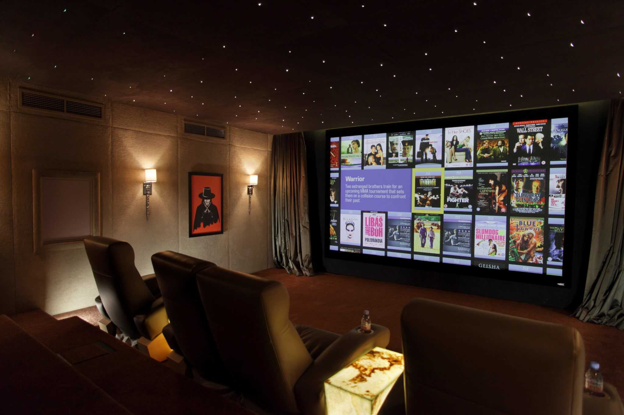 Star Effect Ceiling and Kaleidescape Movie Server