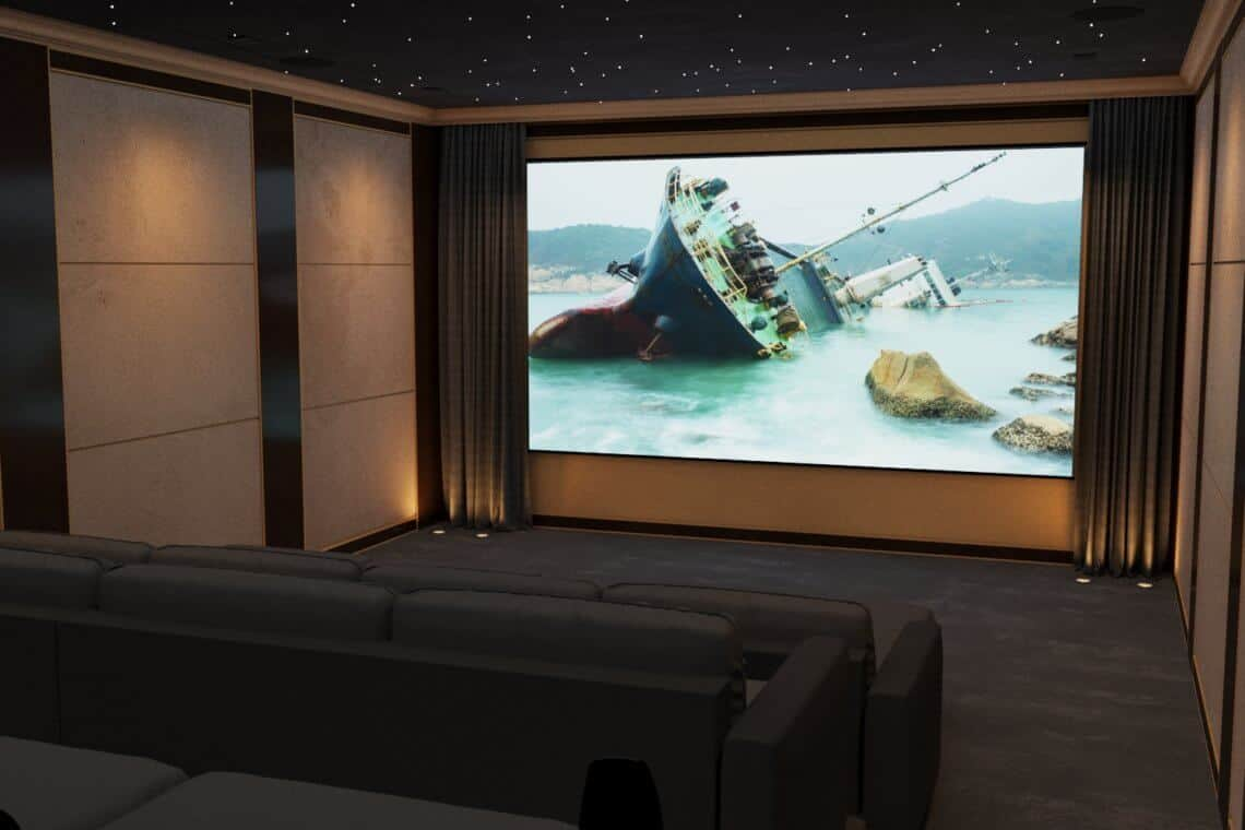 Scottish Estate Home Cinema Room - Front View