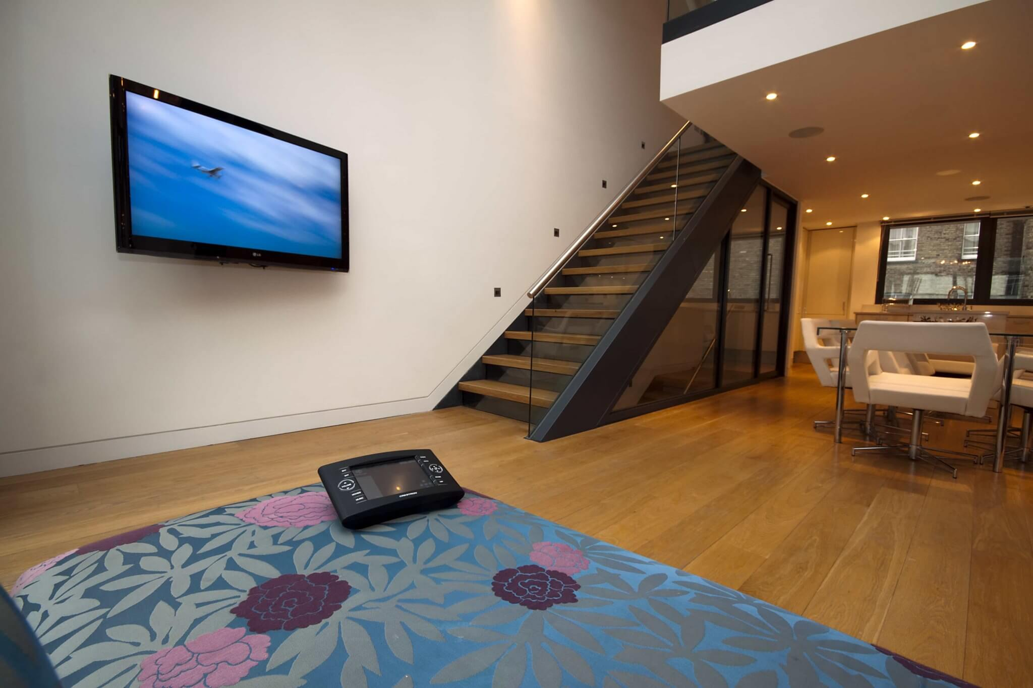 On-Wall TV with Crestron Touchpanel
