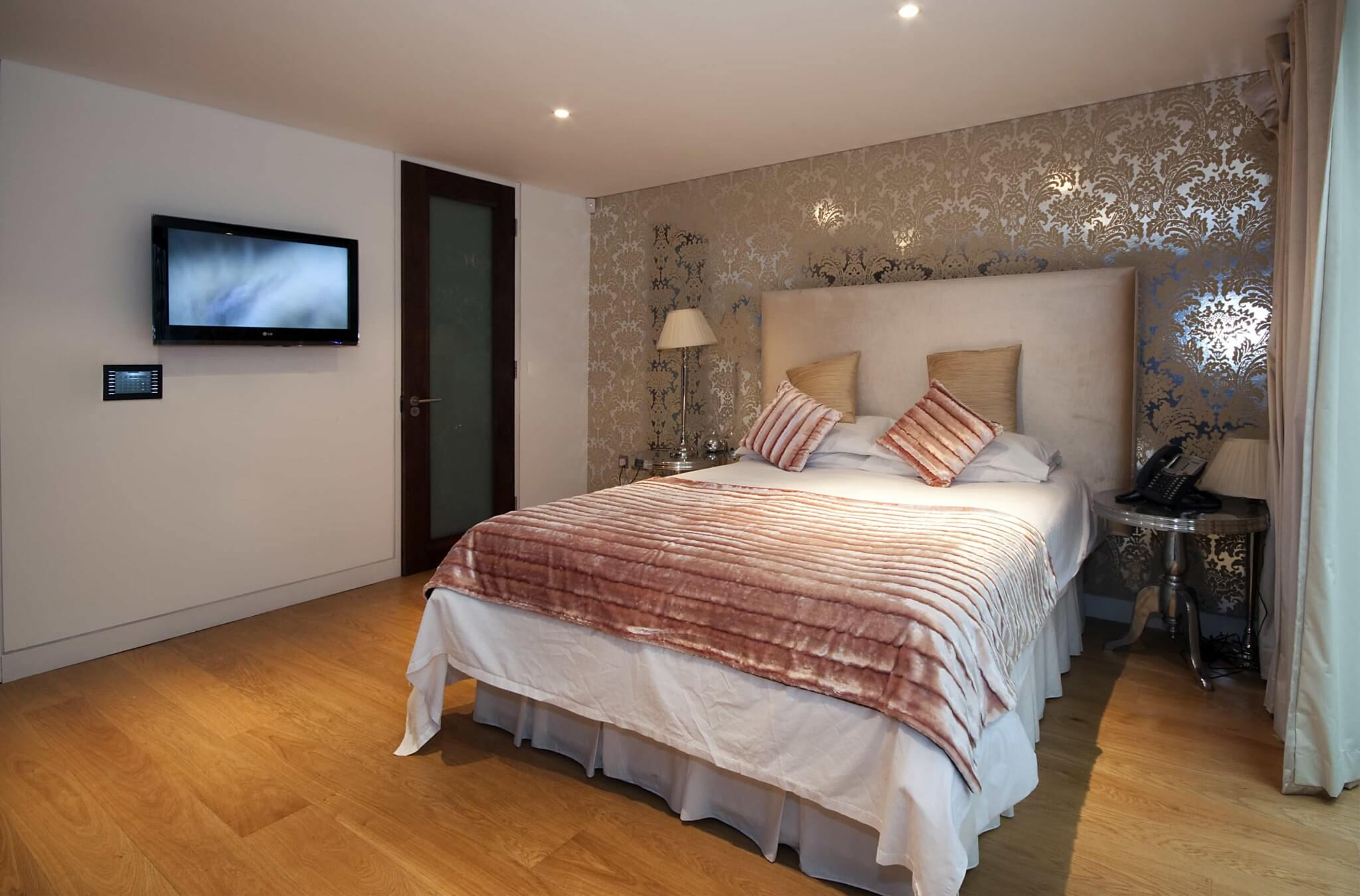 Bedroom AV System with Crestron Touchpanel