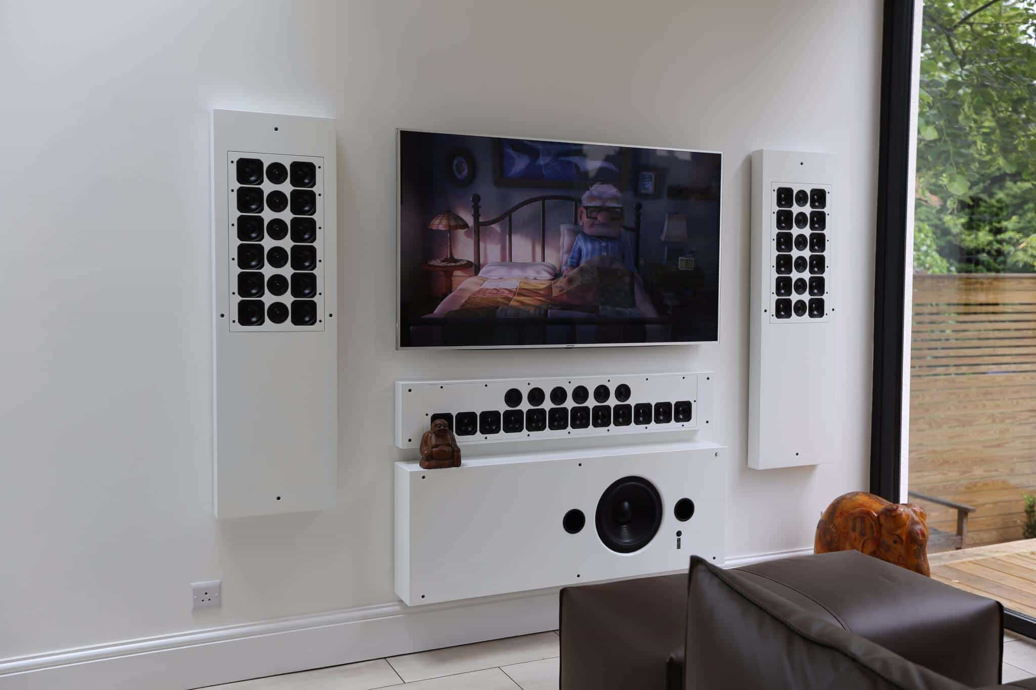 Artcoustic On-Wall Speakers with covers removed