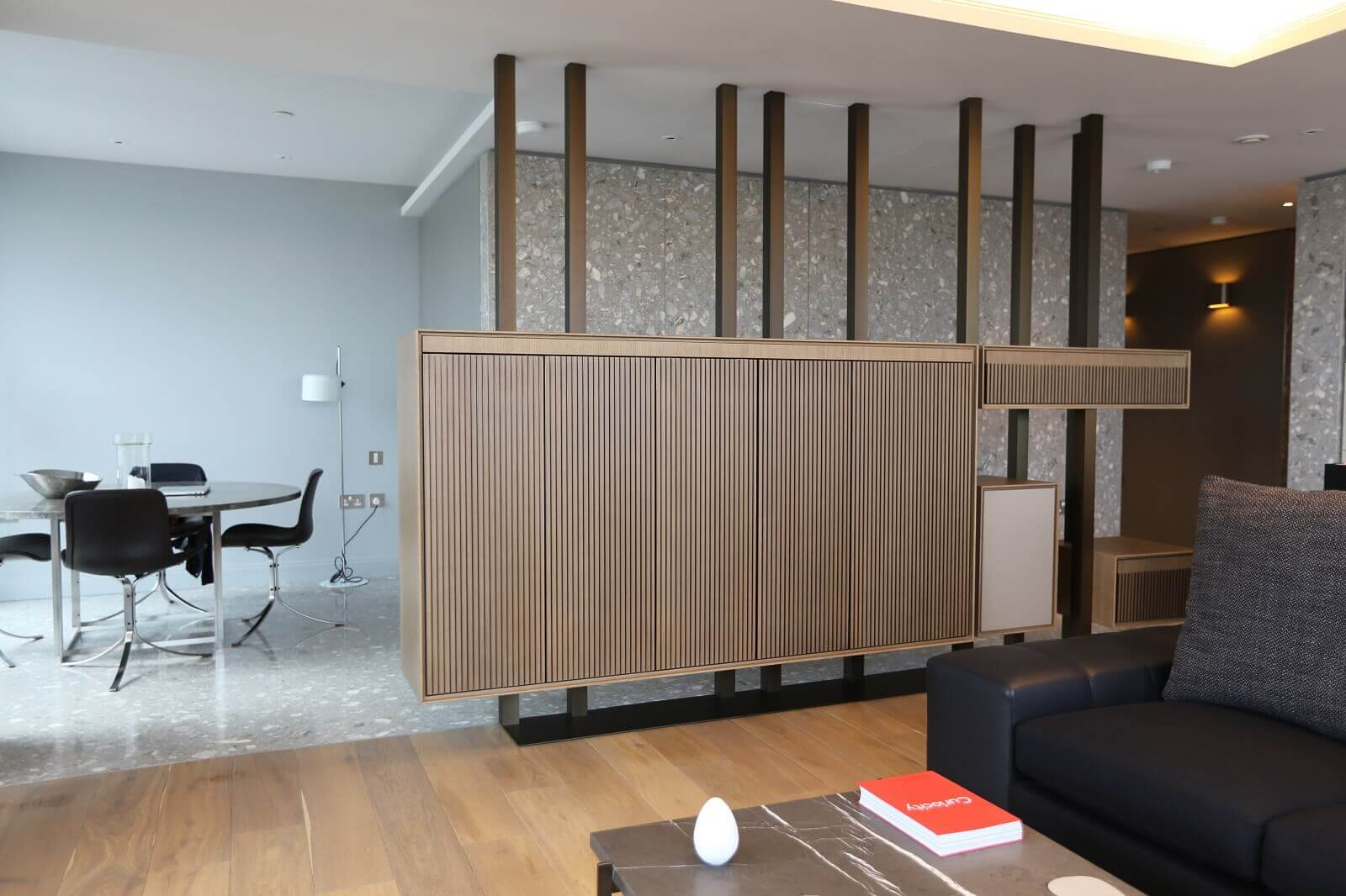Bespoke TV Cabinet with TV Hidden