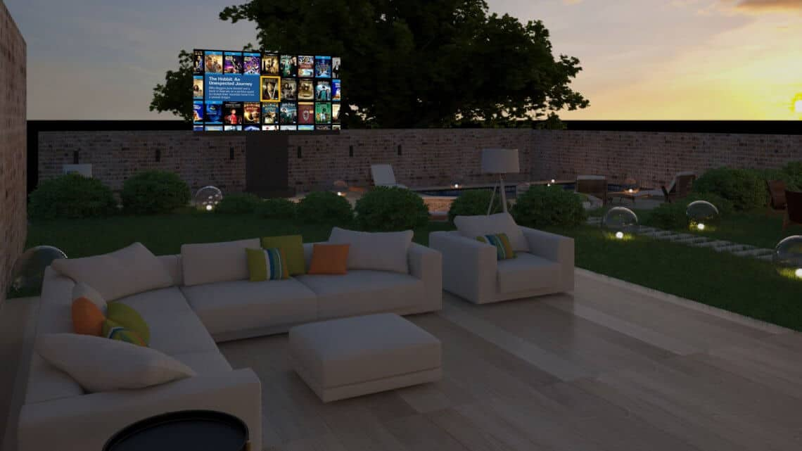 Outdoor Home Cinema Cotswolds - Showing C Seed TV