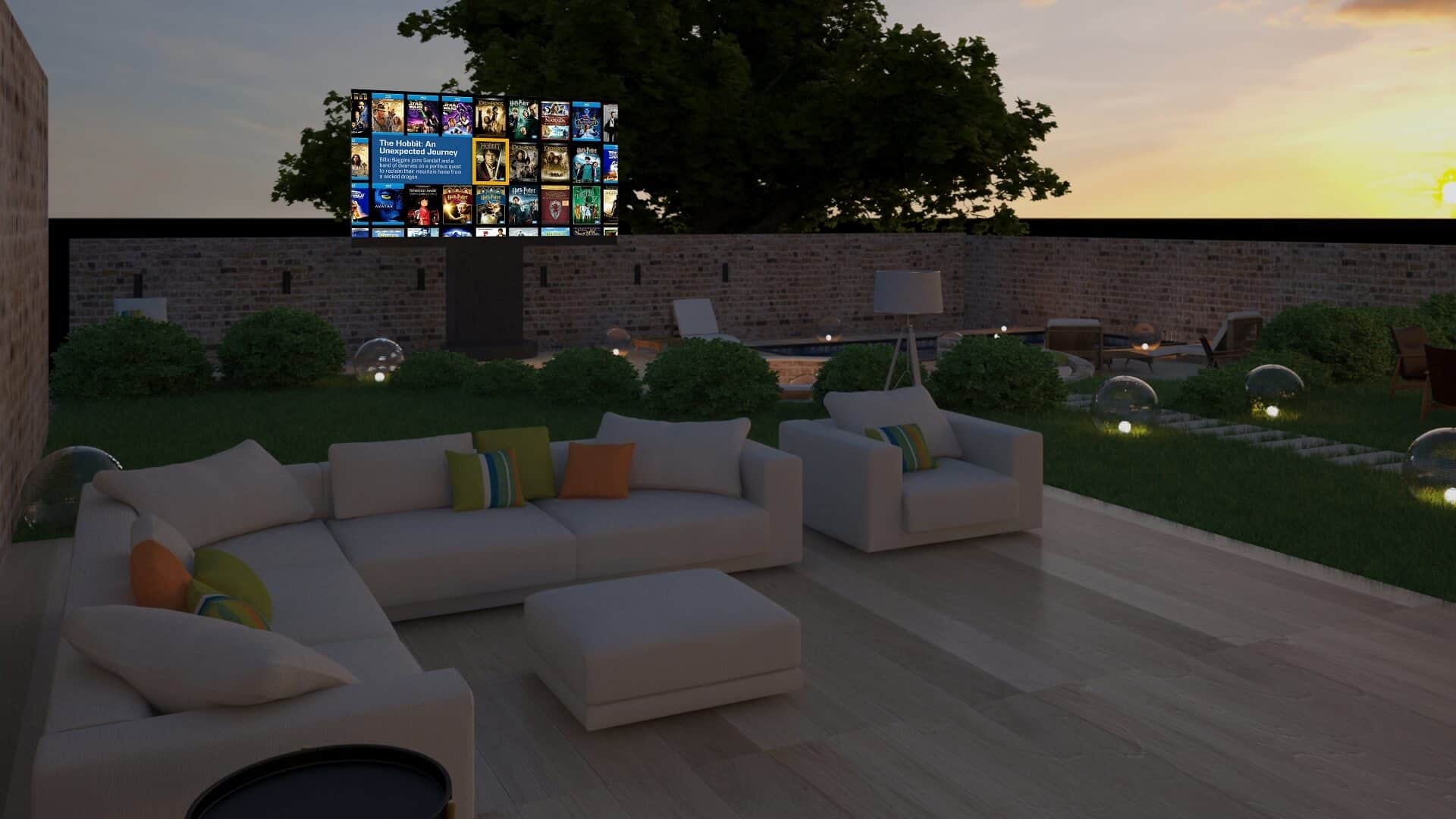 Outdoor Home Cinema Installation Cotswolds