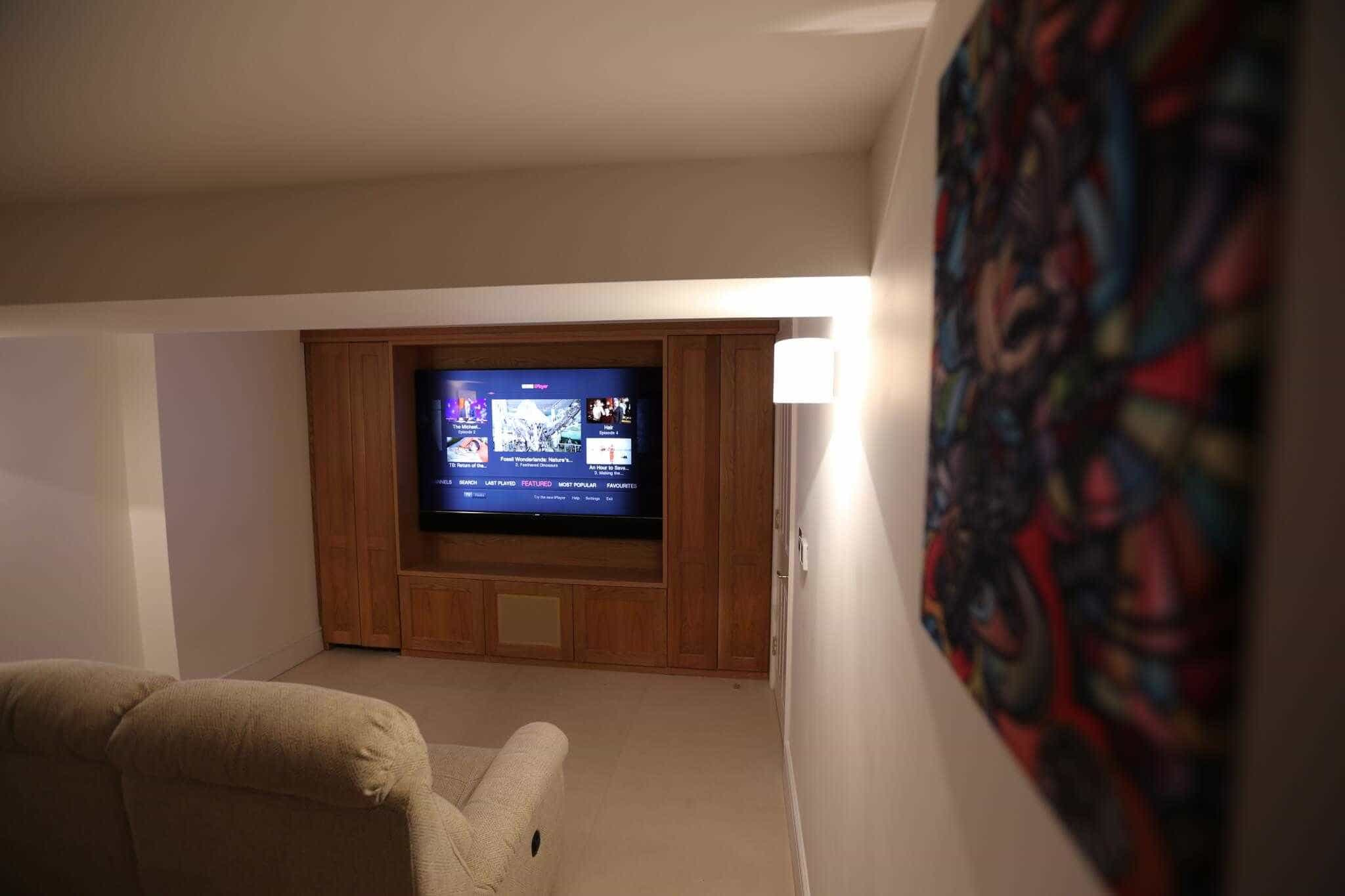 Basement Home Cinema in Pimlico