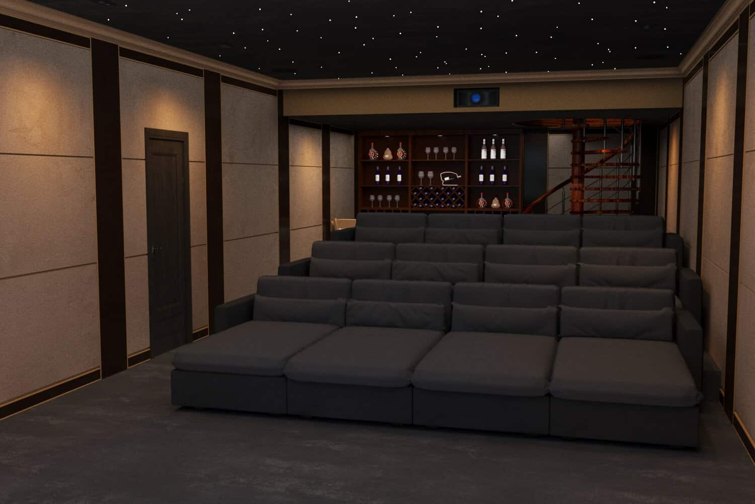 Scottish Home Cinema Room